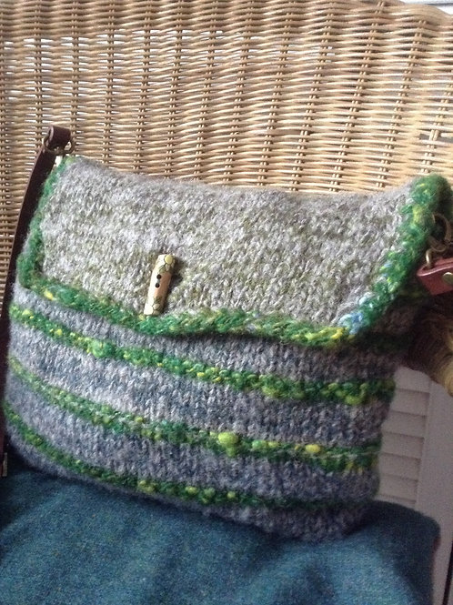 Mossy Grey Shoulder Bag