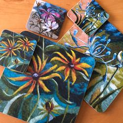Wool art print tableware