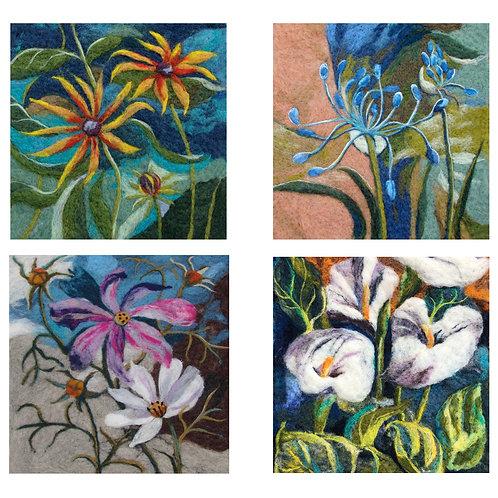 fleted flower cards