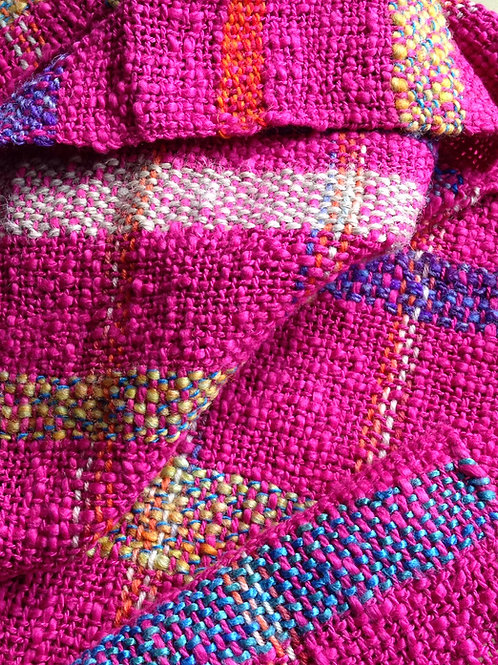 scark woven pink cotton