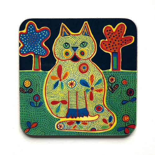 'Merlin' cat coaster