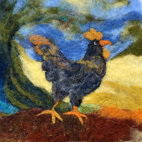 Framed original wool art
