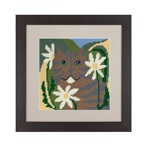 tabby cat needlepoint tapestry