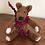 jointed felted teddy