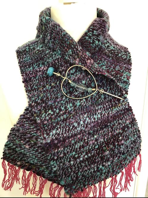 Blue ripple scarf