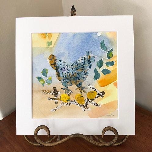'Speckled Hen' collage artwork