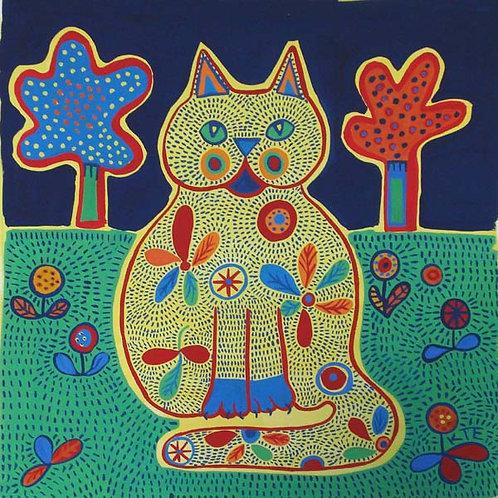 cat design greetings card