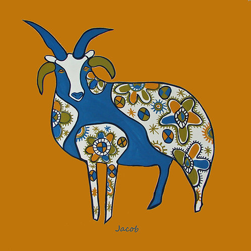 Jacob sheep coaster card