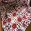 retro flower motif scarf