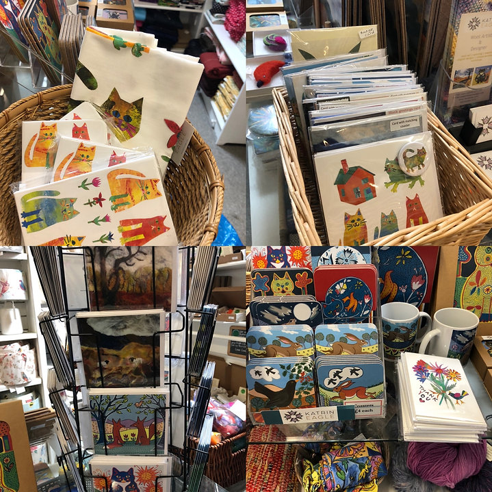 cards and coasters at Bosham walk