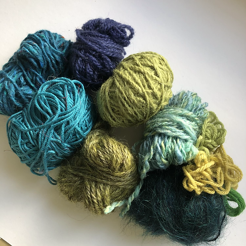 Green/blue yarn project pack