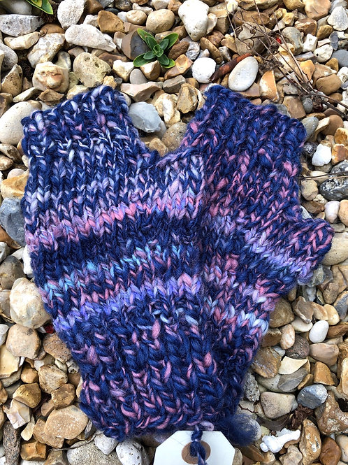 chinky fingerless mittens