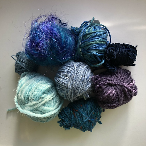Blue yarn project pack