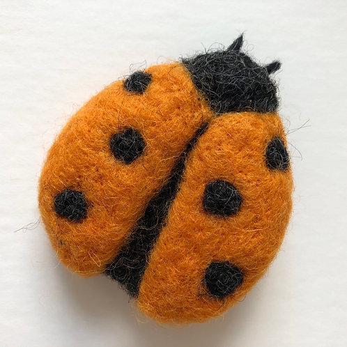 Ladybird brooch