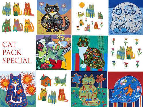 cat design greetings cards