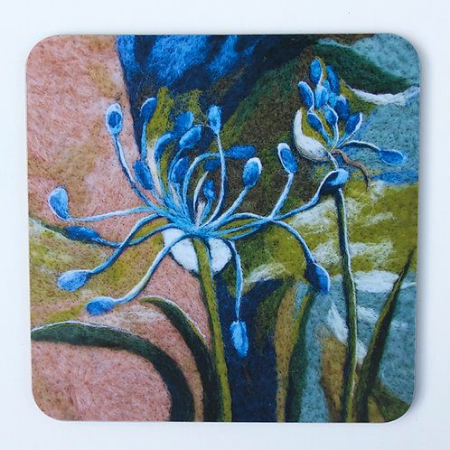 placemat with agapanthus design