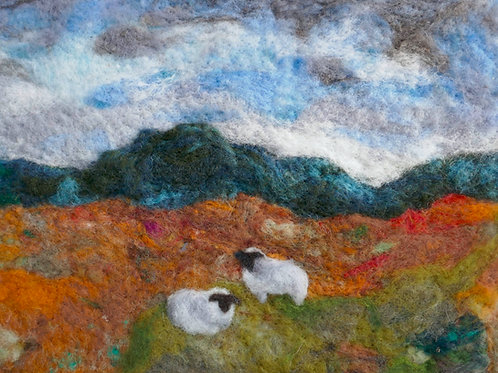 wool art card downland
