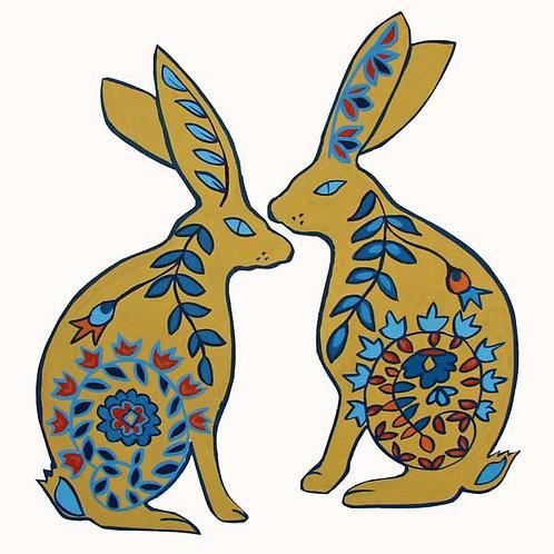 greetings card hare design