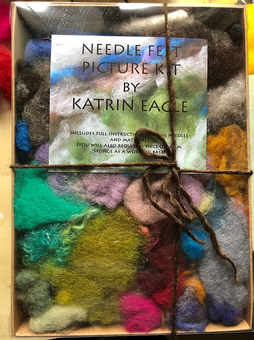 needle felting picture kit