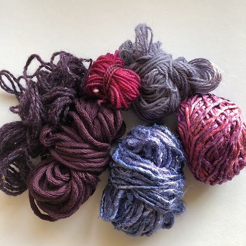 Deep purple yarn project pack