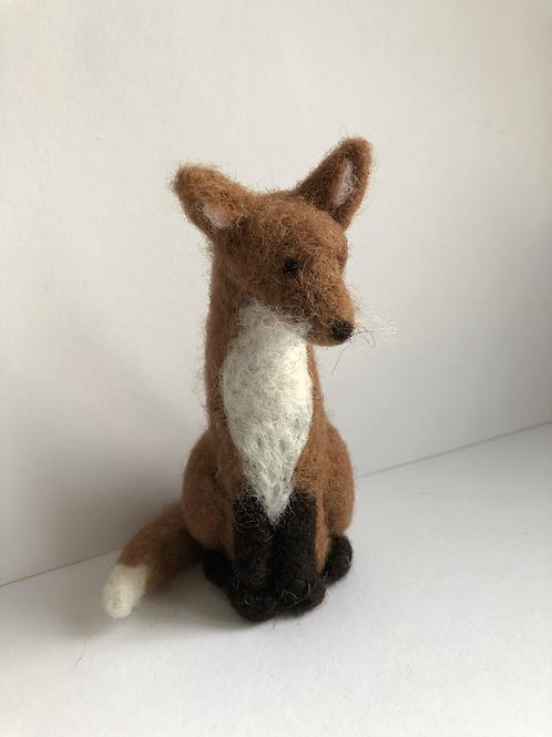 needle felt fox