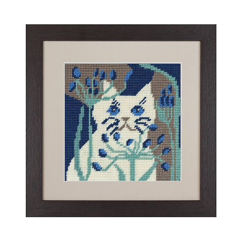 cat Bella needlepoint tapestry
