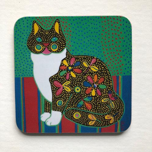 'Marmaduke' cat coaster