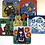 Thumbnail: Set of 6 Folk Art Cat Placemats