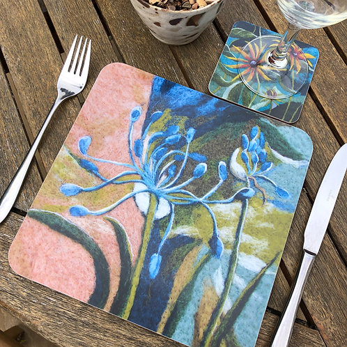Summer sketchbook-placemats & coasters