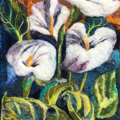 greetings card calla lilies