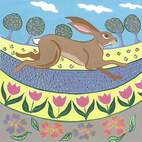 leaping hare card