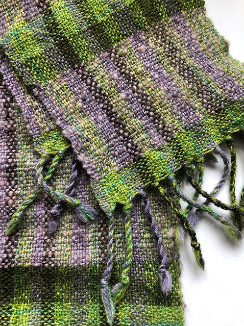 Lilac & green scarf