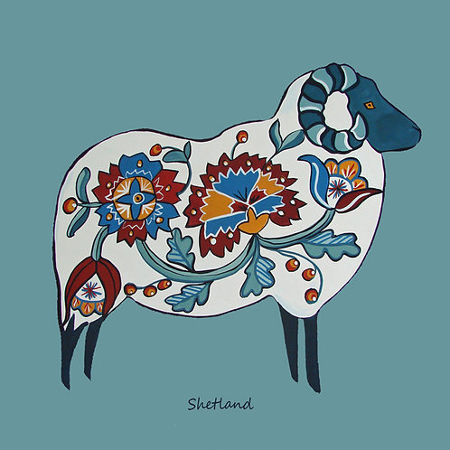 Card - Shetland sheep