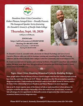 10 Donald Grant Sept 10 Zoom invitation.