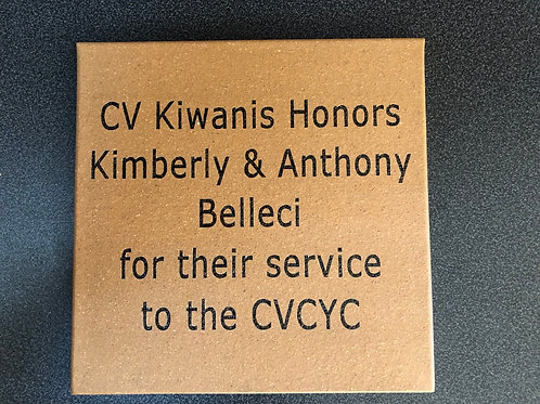 Click Here to purchase an 8x8 Donation Tile
