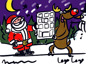 Santa, rudolph, reindeer, christmas, advent, advent calendar, designer, illustrator, artist, scamp, illustration, design, artwork, draft, concept, father christmas, crawley, west sussex, surrey, south east