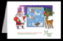 berkshire, Santa, rudolph, reindeer, christmas, advent, advent calendar, designer, illustrator, artist, illustration, design, artwork, father christmas, crawley, west sussex, surrey, south east, bracknell
