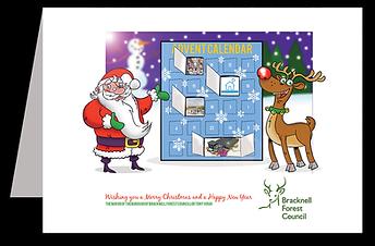 berkshire, Santa, rudolph, reindeer, christmas, advent, advent calendar, designer, illustrator, artist, illustration, design, artwork, father christmas, crawley, west sussex, surrey, south east, bracknell