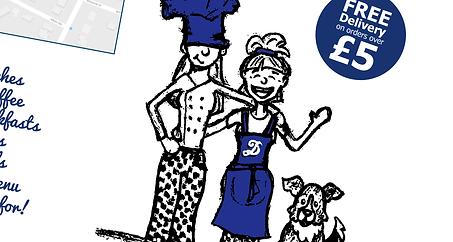 gatwick, crawley, stationery, marketing, materials, Menu, Leaflet, promotional, poster, flyer, design, designer, graphic, surrey, Delilahs Sandwich & Coffee Shop, Rustington, IDEAlee, Crawley, West Sussex
