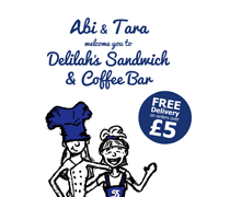 delilahs, coffee, shop, menu, menus, leaflets, posters, flyers, design, designer, graphic, illustration, crawley, west, sussex, surrey, south east,