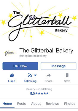 facebook, stars, glitter, sparkle, yellow, silver, shine, The Glitterball Bakery, glam, glammer, Godalming, Surrey, unique, cake, baking, image, bespoke, drawing, handwriting, glitterball, logo, branding, logos, brand, design, designer, graphic, identity, crawley, west, sussex, surrey, gatwick, kent, south east, crawley