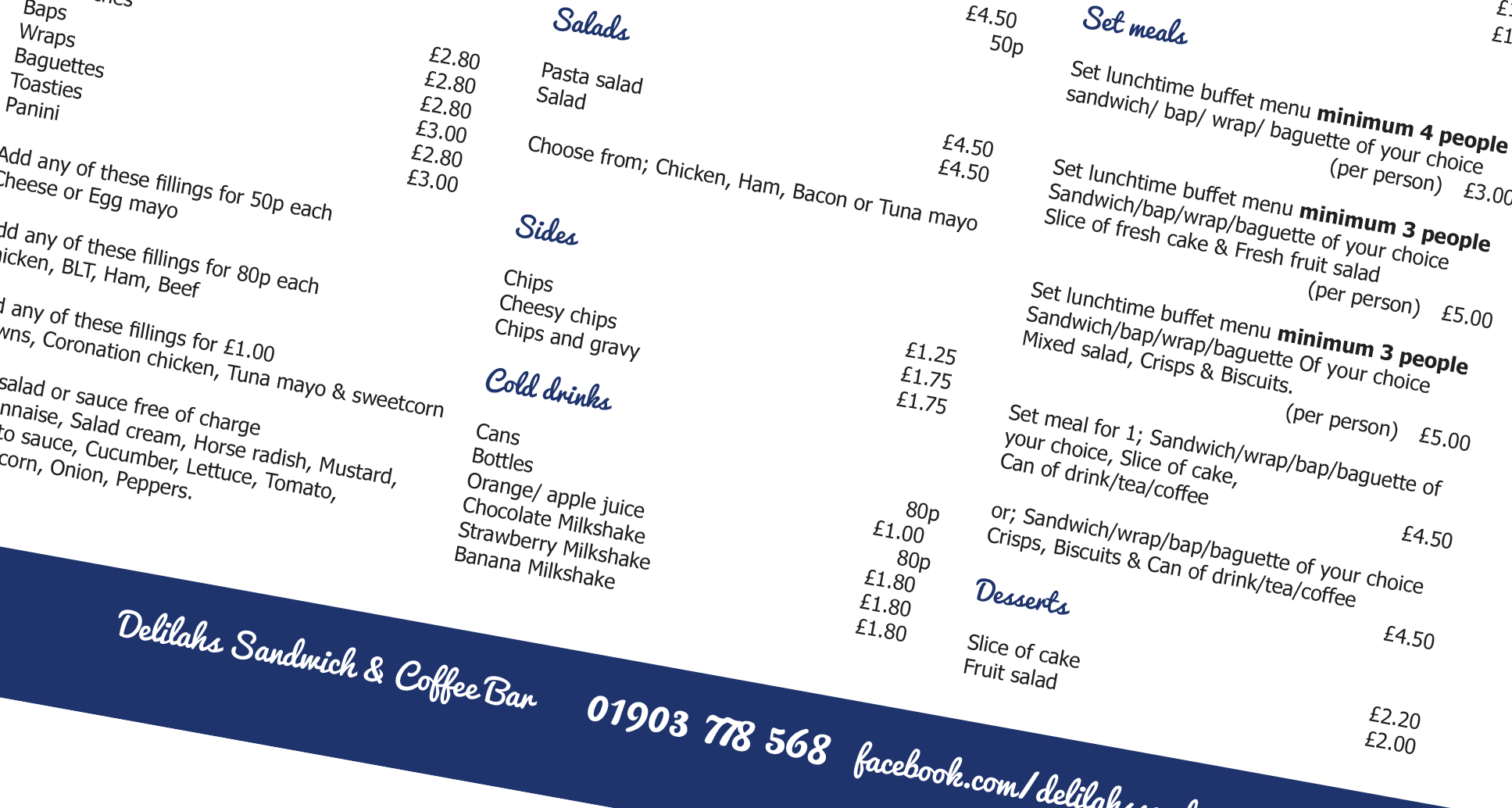 Graphic Designer: Menu, Crawley