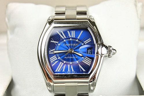 Cartier Roadster Rare Blue Dial SS Automatic Ref 2510