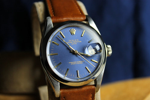 Rolex Oyster Perpetual Date Blue Dial 1974