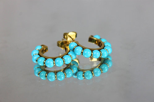 Turquoises Earrings Gold 19.25 Klts
