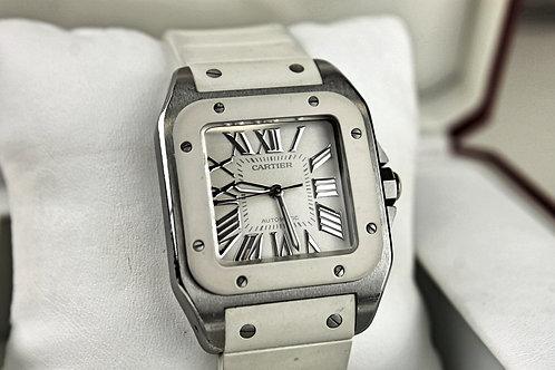 Cartier Santos 100 Automatic White