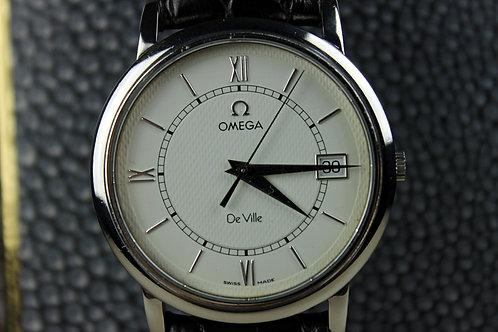Omega de Ville Date Quartz