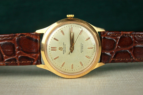 Breitling Geneve Automatic Solid Gold Men's 60's