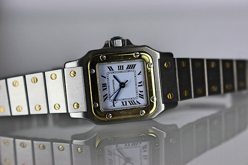 Cartier Ladies Santos Galbee Automatic Two Tone 18K GOLD/SS