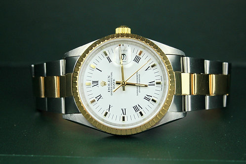 Rolex Oyster Perpetual Date 2 Tones Gold-Steel Unisex 2120